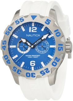 Nautica Men's N16612G Bfd 100 Multi Watch NAUTICA. Save 35 Off!. $107.99. Stainless steel case. 46mm. Durable mineral crystal protects watch from scratches. Water resistant to 330 feet. Quartz movement