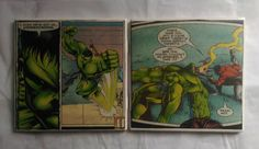 The Incredible Hulk Ceramic Tile Coasters Set of 2, Comic Book Art, Marvel Comics, Handmade by ComicBookCreations01 on Etsy