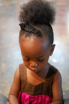UPDO / PONYTAIL / BRAID / NATURAL HAIR / AFRO PUFF / PLAT / LITTLE GIRL HAURSTYLE / GIRL / KIDS HAIR