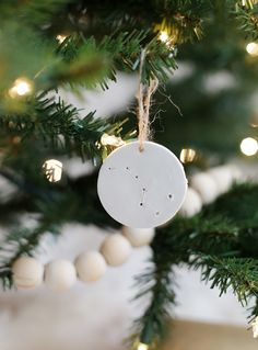 diy clay ornaments wood garland themerrythought diy christmas ornaments christmas tree decorations