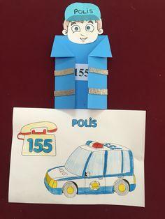 Polis 155 Preschool Lesson Plans, Preschool Curriculum, Preschool Activities, Kindergarten Jobs, Community Helpers Crafts, Art For Kids, Crafts For Kids, Lessons For Kids, Pre School