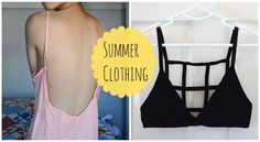 ✂ DIY: Caged Bralette & Low Back Dress