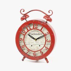 Relógio Chester Vermelho 29 x 22 x 5 cm | referência 107864825 | A Loja do Gato Preto | #alojadogatopreto | #shoponline