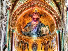 Paintings in Cefalu cathedral, Sicily