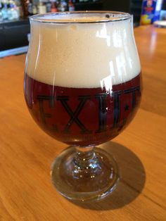 Dry-hopped Imperial Squat IPA from Exile Brewing sports a caramel-rich malt and appealing head.