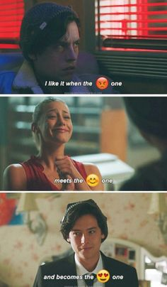 Wouldn't necessarily call Jughead the angry one but he is totally the heart eyes one.