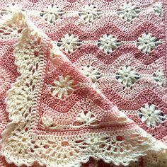 Crochet Daisy, Manta Crochet, Crochet Home, Knit Crochet, Crochet Blanket Tutorial, Afghan Crochet Patterns, Baby Blanket Crochet, Crochet Chain Stitch, Crochet Stitches