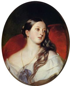 """A very intimate Queen Victoria by Xavier Winterhalter """", her husband Albert's """"secret favourite picture"""", kept in his private study.....the public did not see this portrait until 1977!"""