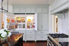 Love this built in fridge.