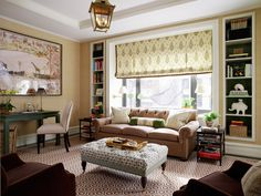 Living Room with Green Accents --  Ashley Whittaker Design, ashleywhittakerdesign.com