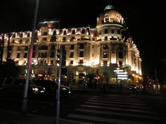 Nice at night.  This is the Hotel Negresco.
