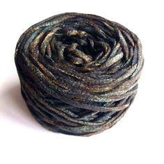 Oxidized-Bronze Effect on 100% Black Cotton Ribbon