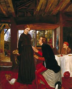 Women rejecting marriage proposals in western art history. The Proposal (The Marquis and Griselda) circa 1850 by Frederic George Stephens Pre Raphaelite Brotherhood, Edward Burne Jones, Dante Gabriel Rossetti, Art Criticism, John William Waterhouse, Tate Britain, Marriage Proposals, Classical Art, Art Uk