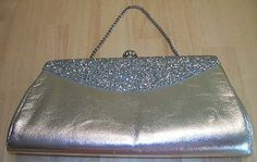 Vintage Silver And Glitter Clutch Purse Bridesmaid Clutches, Clutch Purse, Vintage Silver, Glitter, Shoulder Bag, Purses, Bags, Handbags, Handbags