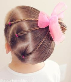 Easy Toddlers Hairstyle Kinderfrisuren 40 Cool Hairstyles for Little Girls on Any Occasion Easy Todd Easy Toddler Hairstyles, Baby Girl Hairstyles, Hairstyles For School, Trendy Hairstyles, Short Haircuts, Teenage Hairstyles, Girl Haircuts, Hairstyles Haircuts, Wedding Hairstyles