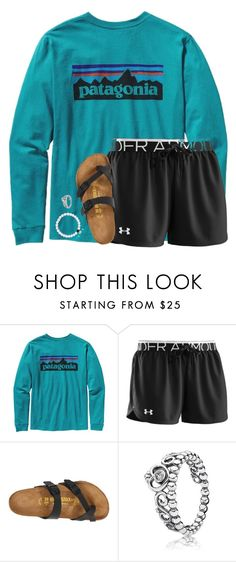 """ootd"" by aletphobia ❤ liked on Polyvore featuring Patagonia, Under Armour, Birkenstock and Pandora"