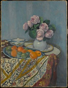 Albert Andre (1869-1954) - Bouquet of Roses and Fruit