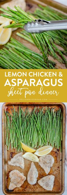This Lemon Herb Chicken & Asparagus Sheet Pan Dinner is a delicious and healthy one pan meal that is perfect for busy weeknights! Lemon Herb Chicken, Chicken Asparagus, Sheet Pan Suppers, Paleo Dinner, Dinner Recipes, Dinner Ideas, Meal Ideas, One Pan Meals, Main Meals