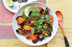 Seasaltwithfood: Saltspring Island Mussels With Red Curry Paste