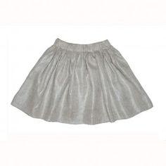 Fusta creata din in poleit cu argintiu Girl Outfits, Tulle, Velvet, Satin, Silk, Elegant, Skirts, Cotton, Clothes