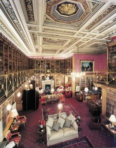Alnwick Castle Library, this is in the castle used as Hogwarts in Harry Potter.