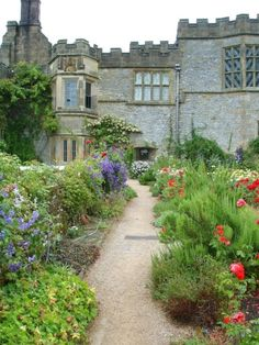 """picturesofengland: """"In the garden, Haddon Hall, Derbyshire"""", Bakewell, Derbyshire. (Photographer: © Grant Shaw)"""