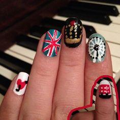 Fun London themed nails!
