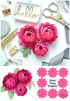 How to make paper peonies. Paper peony flowers for wedding bouquets.