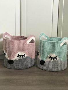 Discover recipes, home ideas, style inspiration and other ideas to try. Fox Nursery, Nursery Toys, Animal Nursery, Woodland Nursery, Nursery Decor, Crochet Fox, Crochet Animals, Crochet Storage, Toy Basket