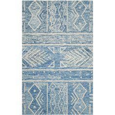 Loon Peak Shilah Hand-Tufted Blue/Ivory Area Rug | AllModern