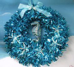 Seahorse Starfish Christmas Wreath