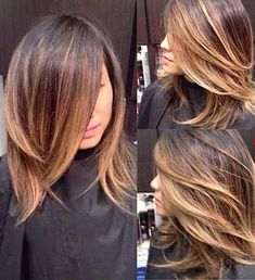 37 New Ideas Hair Ombre Highlights Guy Tang Love Hair, Great Hair, Gorgeous Hair, Hair Color And Cut, Hot Hair Colors, Balayage Hair, Dark Balayage, Short Balayage, Caramel Balayage