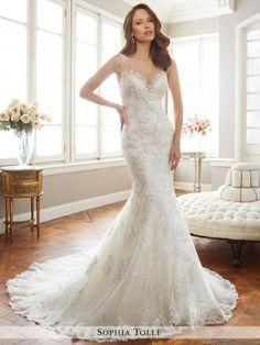 The back is gorgeous! Sophia+Tolli+Wedding+Dresses+-+Style+Monaco+Y11712/Y11712HB
