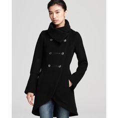 Mackage Diana Tulip Hem Wool Blend Coat ($640) found on Polyvore