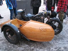 Wooden Side Car...photo by Dennis Crowder