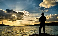 sunset, the fishermen
