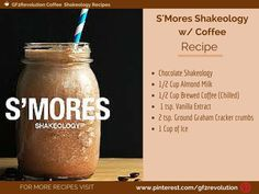#SMORES need I say more. Try this yummy Smore @shakeology recipe that includes a #Coffee Kick. Plus all the yummy campfire flavors of a tasty Smore.