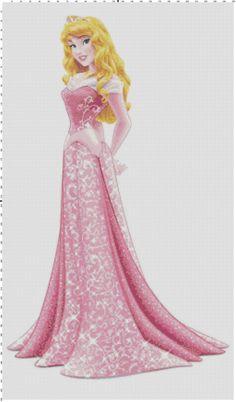 Aurora Sleeping Beauty cross stitch pattern PDF by Bluegiantstitch, £2.30