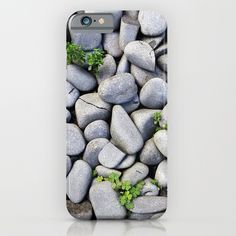 Sea Stones - Gray Rocks, Texture, Pattern iPhone Case by staypositivedesign