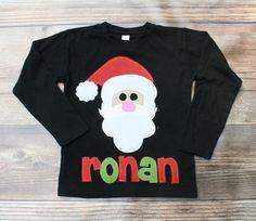 Christmas Shirt Santa Shirt Boys Christmas by roundthebendagain