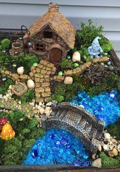 Creating a Gnome Garden is part of Mini garden Boxes - Building a patio garden box for a gnome village Mini Fairy Garden, Fairy Garden Houses, Diy Garden, Garden Boxes, Garden Projects, Spring Projects, Garden Kids, Fairies Garden, Bamboo Garden
