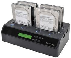 Century USB 3.0 & eSATA Cloning Docking Station. We need this at work.