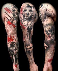 35 Trash Polka Tattoo Designs 2