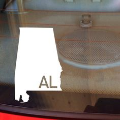 Alabama Car Decal, State Decal, Alabama Car Sticker, Car Decal, Vinyl Decal, AL, Bumper Sticker, Sticker, Home, State Love, Any State, Bama by DesignsByTenisha