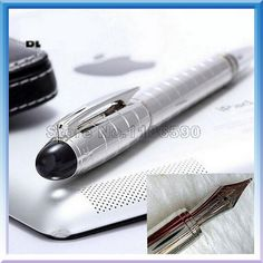 Silver Grid Fountain Pen