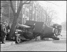 Vintage Photos of Auto Accidents in Boston (1920s-1950s)