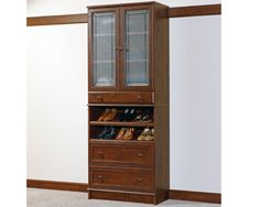 "Sauder Woodtrac Closets 30"" Cabinet With Doors & Drawers White"