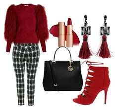 """""""red and black"""" by jan-fr ❤ liked on Polyvore featuring MICHAEL Michael Kors, Melissa McCarthy Seven7, Sonia Rykiel and plus size clothing"""