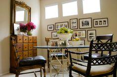 beach style dining room by Jessica Bennett Interiors