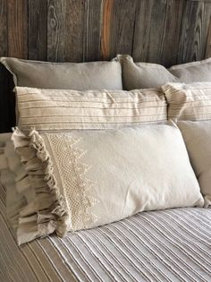 Excited to share this item from my shop: A Pair of Canvas Pillows Covers w Lace with Long Ruffles Bedding Decor Handmade French Country Farmhouse Wedding Gift Birthday Gift French Country Rug, French Country Bedrooms, French Country Decorating, French Country Bedding, Bedroom Country, Vintage Country, Country Living, Rustic Bedding, French Home Decor